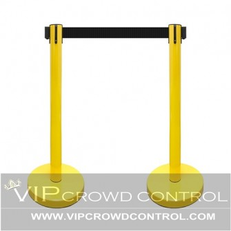 Economy Retractable Stanchion in Yellow Finish