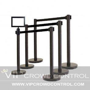 6 VIP Belt Stanchion Set + Sign Frame