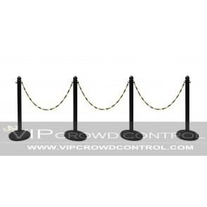 Plastic Stanchion Set with Dome Water Base (4 pcs) + 50' Chain