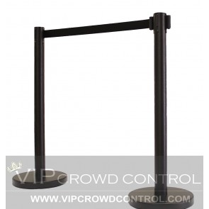 VIP Retractable Stanchion in Black Finish
