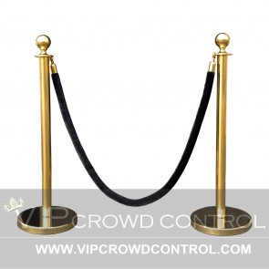 Crown Top Rope Stanchion Set in Gold Finish