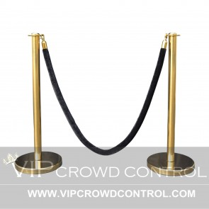 Flat Top Rope Stanchion Set in Gold Finish