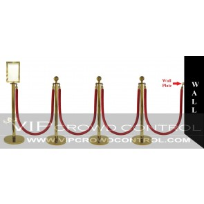 10 pcs Gold Rope Stanchion Set