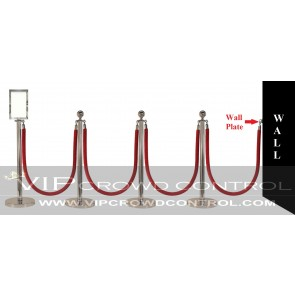 10 pcs Mirror Rope Stanchion Set