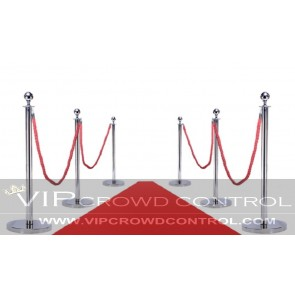 Carpet Combo Mirror Rope Stanchion Set