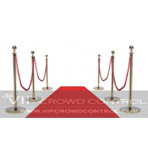 Carpet Combo Gold Rope Stanchion Set