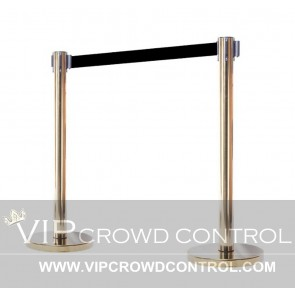 Economy Retractable Stanchion in Gold Finish