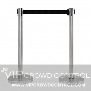 VIP Retractable Stanchion in Stain Finish