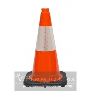 "18"" JBC Plastic Revolution Series Traffic Cone with Reflector"
